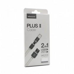USB data kabal za Android micro/iPhone lightning (2u1) Nillkin Plus Ii (1,2m) - bela