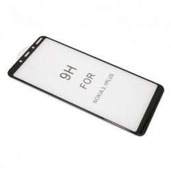 Zaštitno staklo za Nokia 3.1 Plus (zakrivljeno 5D) pun lepak - crna