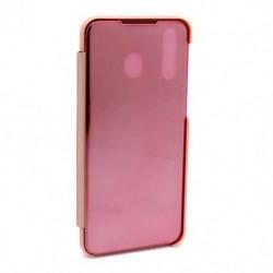 Futrola za Samsung Galaxy M30/A40s preklop bez magneta bez prozora Clear view - roza