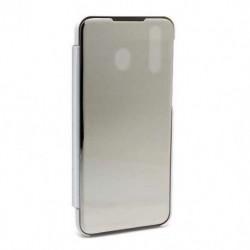 Futrola za Samsung Galaxy M30/A40s preklop bez magneta bez prozora Clear view - srebrna