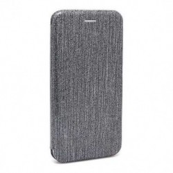 Futrola za Nokia 3.1 Plus preklop bez magneta bez prozora iHave glitter - srebrna