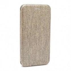 Futrola za Nokia 3.1 Plus preklop bez magneta bez prozora iHave glitter - zlatna