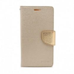 Futrola za Nokia 7.1 preklop sa magnetom bez prozora Mercury - zlatna