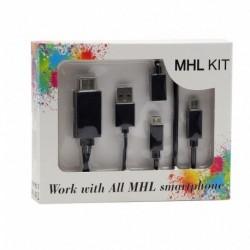 Adapter MHL sa Micro USB na HDMI + Micro 5 pin na 11 pin