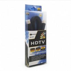 Kabal Flet sa HDMI na HDMI 1,5m - crna