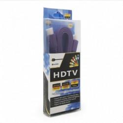 Kabal Flet sa HDMI na HDMI 1,5m - ljubičasta