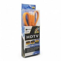 Kabal Flet sa HDMI na HDMI 1,5m - narandžasta