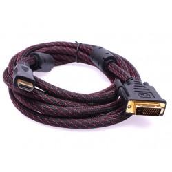 Kabal sa HDMI DVI (24+1) 3m - crna
