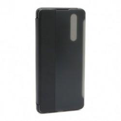 Futrola za Huawei P30 preklop bez magneta sa prozorom Smart view - crna