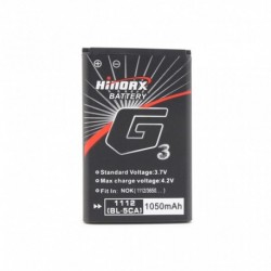 Baterija za Nokia 1100/1100c/1101/1108/1110/1112/1208/1209/1255/1315/1600/1616/1650/1680/1800 (BL-5CA) - Hinorx