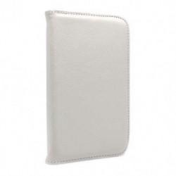Futrola za Samsung Galaxy Tab 3 7.0 preklop bez magneta bez prozora Rotirajuća - bela