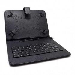 """Futrola za univerzalna za tablet 9"""" preklop sa magnetom bez prozora + tastatura - crna"""