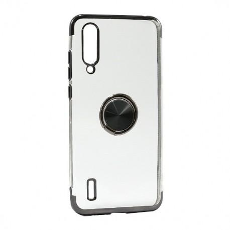 Futrola za Xiaomi Mi A3/CC9e leđa Magnetic ring clear - crna
