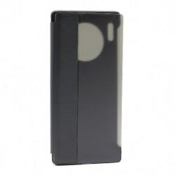 Futrola za Huawei Mate 30 Pro preklop bez magneta sa prozorom Smart view - crna