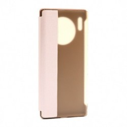 Futrola za Huawei Mate 30 Pro preklop bez magneta sa prozorom Smart view - roza