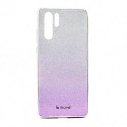 Futrola za Huawei P30 Pro/P30 Pro New Edition/P30 Pro (2020) leđa Glass iHave Glitter - belo-lila