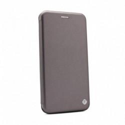 Futrola za Motorola One Action preklop bez magneta bez prozora Teracell flip - srebrna