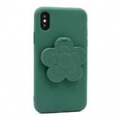 Futrola za iPhone X/XS leđa Flower mirror - zelena