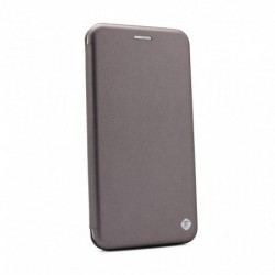 Futrola za Motorola Moto E6 Play preklop bez magneta bez prozora Teracell flip - srebrna