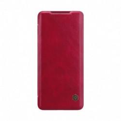 Futrola za Samsung Galaxy S20 Plus/S20 Plus 5G preklop bez magneta sa prozorom Nillkin Qin - crvena