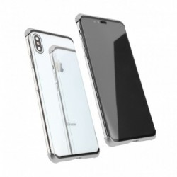 Futrola za iPhone XS Max oklop Magnetic Full glass 360 - srebrna