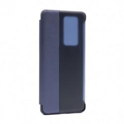 Futrola za Huawei P40 Pro preklop bez magneta sa prozorom Smart view - teget