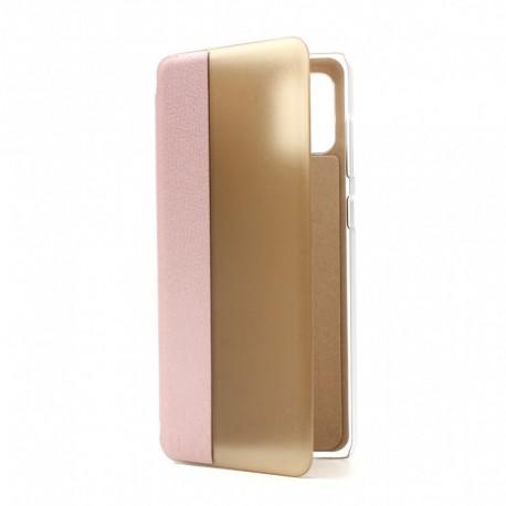Futrola za Samsung Galaxy A31 preklop bez magneta bez prozora View window - roza