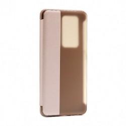Futrola za Huawei P40 Pro Plus/5G preklop bez magneta sa prozorom Smart view - roza