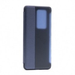 Futrola za Huawei P40 Pro Plus/5G preklop bez magneta sa prozorom Smart view - teget