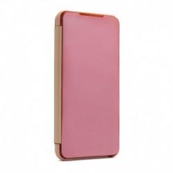 Futrola za Motorola Moto G9 Plus preklop bez magneta bez prozora Clear view - roza