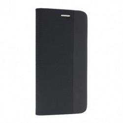Futrola za iPhone 12 Pro Max preklop bez magneta bez prozora iHave canvas - crna