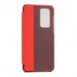 Futrola za Huawei P40 preklop bez magneta sa prozorom View window2 - crvena