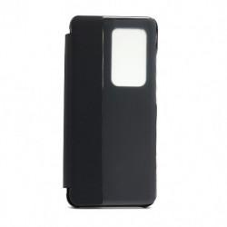 Futrola za Huawei P40 Pro preklop bez magneta sa prozorom View window2 - crna