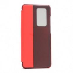 Futrola za Huawei P40 Pro preklop bez magneta sa prozorom View window2 - crvena