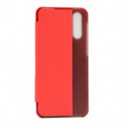 Futrola za Samsung Galaxy A30s/A50/A50s preklop bez magneta sa prozorom View window2 - crvena