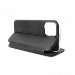 Futrola za iPhone 12/12 Pro preklop bez magneta bez prozora Teracell Leather - crna