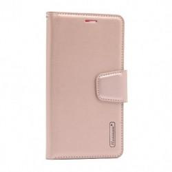 Futrola za iPhone 12 mini preklop sa magnetom bez prozora Hanman - svetlo roza