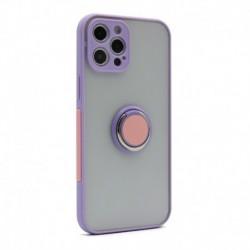 Futrola za iPhone 12 Pro Max leđa Colorful ring - lila