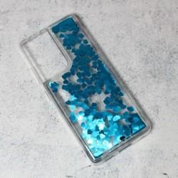 Futrola za Samsung Galaxy S21 Ultra 5G leđa Liquid heart - plava