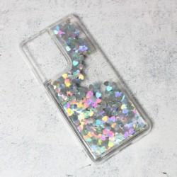 Futrola za Samsung Galaxy S21 Ultra 5G leđa Liquid heart - srebrna
