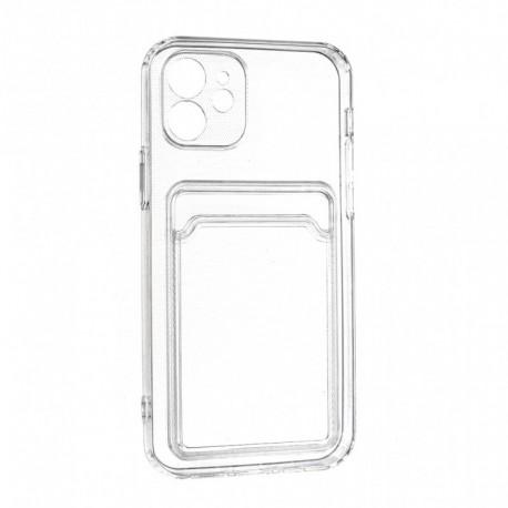 Futrola za iPhone 12/12 Pro leđa Card silikon - providna