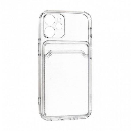 Futrola za iPhone 12 mini leđa Card silikon - providna