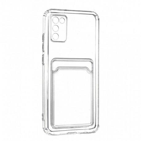 Futrola za Samsung Galaxy A02s leđa Card silikon - providna