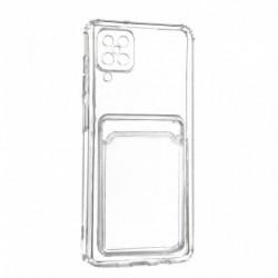 Futrola za Samsung Galaxy A12 leđa Card silikon - providna