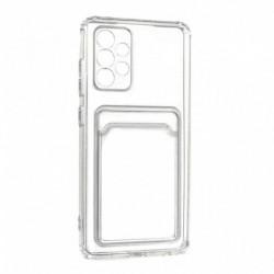 Futrola za Samsung Galaxy A72 leđa Card silikon - providna