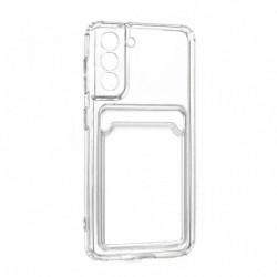 Futrola za Samsung Galaxy S21 5G leđa Card silikon - providna