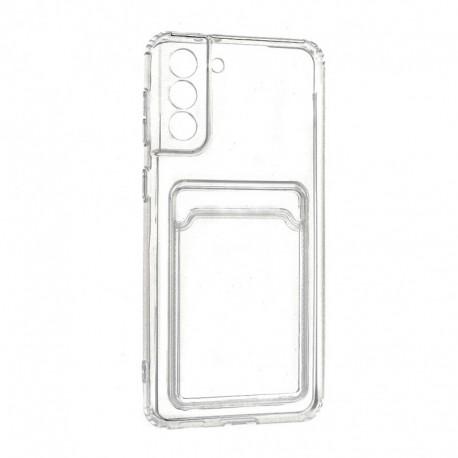 Futrola za Samsung Galaxy S21 Plus 5G leđa Card silikon - providna