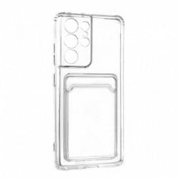 Futrola za Samsung Galaxy S21 Ultra 5G leđa Card silikon - providna