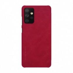 Futrola za Samsung Galaxy A72 preklop bez magneta bez prozora Nillkin Qin - crvena