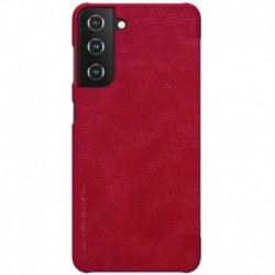 Futrola za Samsung Galaxy S21 5G preklop bez magneta bez prozora Nillkin Qin - crvena